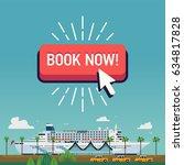 cool vector banner template on... | Shutterstock .eps vector #634817828