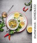 homemade sauce or salad...   Shutterstock . vector #634826222