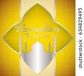 label ramadan kareem  generous... | Shutterstock .eps vector #634829495