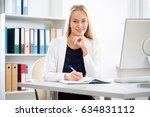portrait of a young business... | Shutterstock . vector #634831112