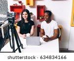 blogger startup new business... | Shutterstock . vector #634834166