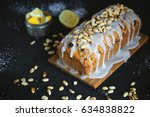 homemade cake with raisins and... | Shutterstock . vector #634838822
