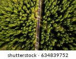 top view of rural road  path... | Shutterstock . vector #634839752