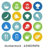 cooking icons    Shutterstock .eps vector #634839896