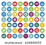 financial icons set | Shutterstock .eps vector #634840055