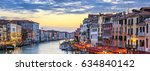 view of grand canal with... | Shutterstock . vector #634840142