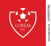 football club logo vector... | Shutterstock .eps vector #634849586