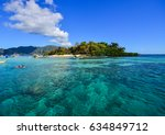 people swim on the sea at sunny ...   Shutterstock . vector #634849712