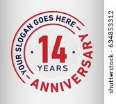 14 years anniversary logo... | Shutterstock .eps vector #634853312