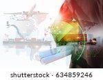 business of worldwide cargo... | Shutterstock . vector #634859246