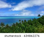 Small photo of View on lagoon and reef of Huahine Iti, Huahine, French Polynesia