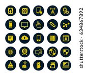 technology icons set computer ... | Shutterstock .eps vector #634867892