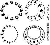 stars in circle  raster... | Shutterstock . vector #634874642