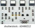 control panel with buttons and... | Shutterstock . vector #63488212