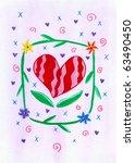 heart background   Shutterstock . vector #63490450