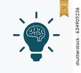 light brain icon. flat isolated ...   Shutterstock .eps vector #634905236