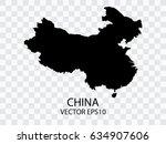transparent   vector black map... | Shutterstock .eps vector #634907606