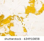 oil paint texture with yellow... | Shutterstock . vector #634910858