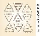 thin line vector modern... | Shutterstock .eps vector #634924292