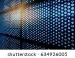 circle pattern  modern building ... | Shutterstock . vector #634926005