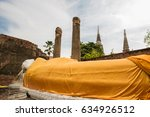 ancient buddha statue at wat... | Shutterstock . vector #634926512