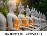 Ancient Buddha Statue At Wat...