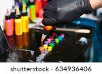 tattoo ink poured into small... | Shutterstock . vector #634936406