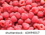 sweet fresh raspberries closeup | Shutterstock . vector #63494017
