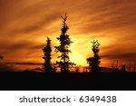 Brilliant Alaskan Sunset With...