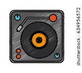 dj turntable icon | Shutterstock .eps vector #634956572