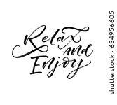 relax and enjoy card. summer...   Shutterstock .eps vector #634956605
