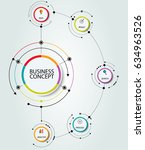 abstract infographics number... | Shutterstock .eps vector #634963526