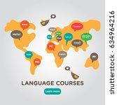 language school poster  banner  ... | Shutterstock .eps vector #634964216