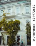 Small photo of 14 July 2016 - Odessa, Ukraine. Beautiful building with ivy in Odessa.