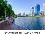 benchakitti park  thailand  ...   Shutterstock . vector #634977965
