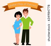 vector illustration of father... | Shutterstock .eps vector #634984778