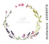 watercolor floral design for... | Shutterstock . vector #634985978