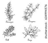set of sketches of seasonings ...   Shutterstock .eps vector #634994576
