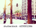 blur. hollywood blvd in the... | Shutterstock . vector #635001386