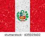 peru flag grunge illustration | Shutterstock .eps vector #635025602
