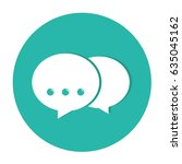 multiple chat icon vector... | Shutterstock .eps vector #635045162
