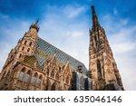 st. stephen's cathedral  vienna ... | Shutterstock . vector #635046146