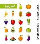 healthy organic vegetarian... | Shutterstock .eps vector #635050856