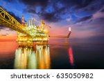 offshore oil and rig platform...   Shutterstock . vector #635050982