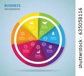modern infographics process ... | Shutterstock .eps vector #635058116