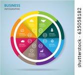 modern infographics process ... | Shutterstock .eps vector #635058182
