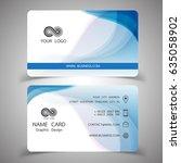 business card design set.... | Shutterstock .eps vector #635058902