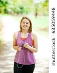 running woman. female runner...   Shutterstock . vector #635059448
