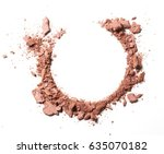 make up crushed powder on white ... | Shutterstock . vector #635070182