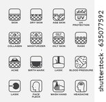 all skin icon and vector   dry... | Shutterstock .eps vector #635077592